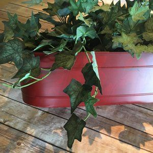 "Creative Co-Op Rustic Red 17"" planter"